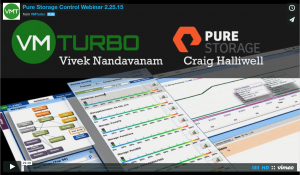 VMTurbo Pure Storage Webinar Screen Shot