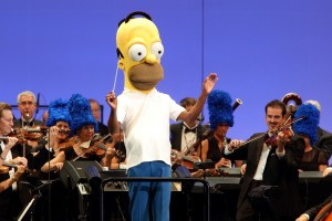 Homer Simpson conducting - would this orchestra's performance be better without a conductor?