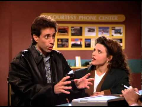 Jerry Seinfeld wrestling with the conundrum of reservations
