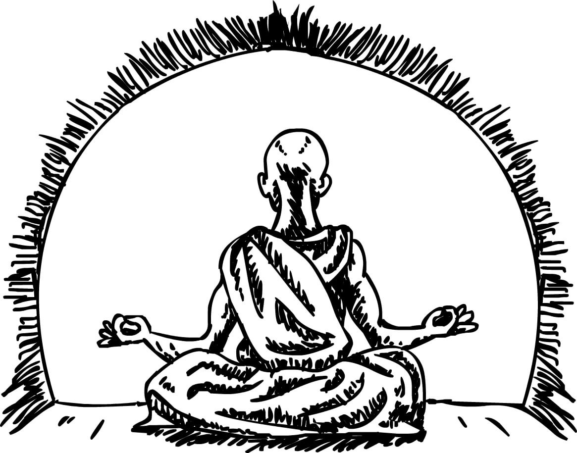 Turbonomic technology agnostic - monk meditating