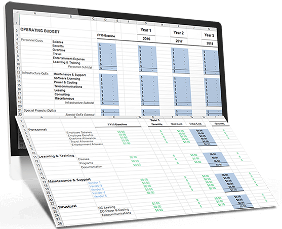 3 Year It Budget Template For Excel